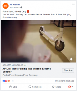 Xiaomi Fake on Facebook